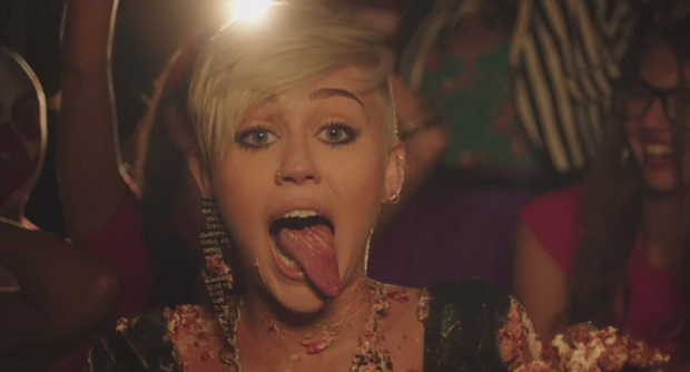 Miley cyrus tongue out gif
