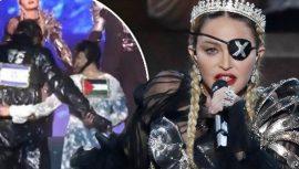 Madonna'dan Eurovision'da Filistin bayrağı sürprizi