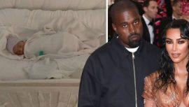 Kim Kardashian 4. çocuğun yüzünü ilk kez gösterdi
