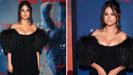 Selena Gomez, Filminin galasına damga vurdu